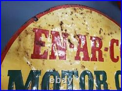 Rare! 24 Enarco En-ar-co Motor Oil Sign 100% Original MAKE an OFFER