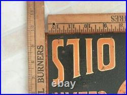 Rare CIRCA 1919 Original Tiolene Motor Oil METAL FLANGE SIGNHARD TO FIND! NICE