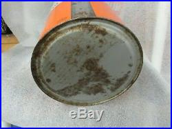Rare Early Oilzum Motor Oil 5 Quart Metal Can Oswald