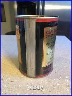 Rare Old Gold Motor Oil Quart Tin Can Sign ASHLAND Refining