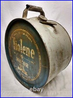 Rare PURE Tiolene 5 Gallon Rocker Motor Oil Can Antique Gas Station sign Antique