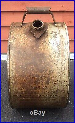 Rare Vintage 5 GL WADHAMS Tempered Motor Oil Rocker Can Gas Service Station Sign