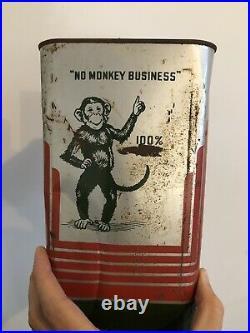 Rare Vintage Billups Your Friend Motor Oil 2 Gallon Metal Can Louisiana