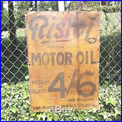 Scarce Early RISTOL MOTOR OIL SIGN Authentic Antique Tin Gas Station Sign