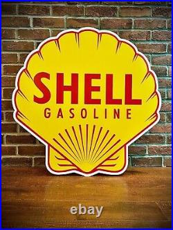 Shell Gasoline Motor Oil Sign HEAVY GUAGE Aluminum High Quality 34 X 34