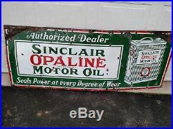 Sinclair Opaline Motor Oil Original Porcelain Sign 6