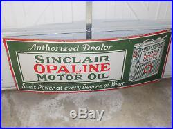 Sinclair Opaline Motor Oil Porcelain Rare 6 Foot Sign