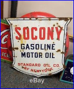 Socony gasoline motor oil porcelain sign