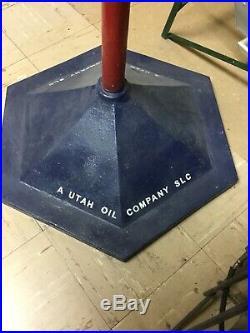 Super Rare! 1940s UTOCO Motor Oil Spinning Advertising Sign Servive Station