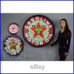 Teaxco Huge 36 Neon sign in steel can Gasoline Motor oil Gas Pump Globe lamp