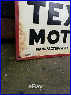 Texaco Enamel Sign Texaco Motor Oil enamel sign clean clear golden oil