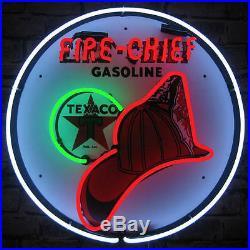 Texaco Fire Chief Gasoline Neon Sign Gas & Motor Oil The Texas Company