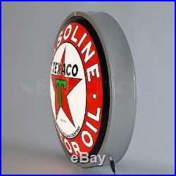 Texaco Gas LED round wall lamp Opti neon sign Texas Gasoline Globe Motor oil