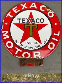 Texaco Motor Oil Enamel Sign