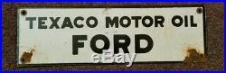 Texaco Motor Oil Ford porcelain sign
