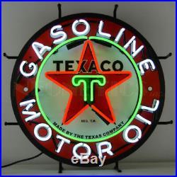 Texaco Motor Oil Neon Sign