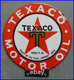 Texaco Motor Oil Porcelain sign for lubester