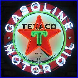 Texaco Star Neon sign Motor oil Gasoline wall lamp globe pump light Texas Garage