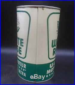 VINTAGE 1950's WHITE ROSE ULTRA HEAVY DUTY MOTOR OIL IMPERIAL QUART CAN