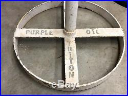 VinTagE Original ROYAL TRITON MOTOR OIL Sign & Stand UNION 76 Gas Car Truck OLD