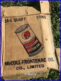 Vintage 1930s Red Indian Motor Oil Cardboard Box Panels