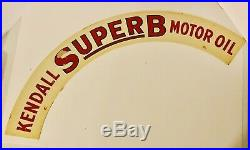 Vintage 1950s Kendall Super B Motor Oil Arch Sign New Old Stock Antique Rare