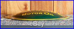 Vintage 1956 Ask For Valvoline Motor Oil Convex Metal Advertising Sign