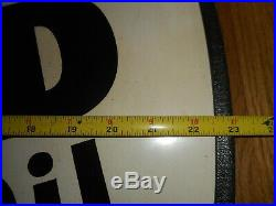 Vintage AM 9-52 We Sell WOLFS HEAD Motor Oil Oval Advertising SIGN