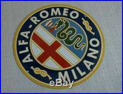 Vintage Alfa Romeo Porcelain Sign Gas Motor Oil Station Gasoline Pump Ad Rare