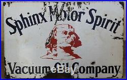Vintage Arabic Sphinx motor oil Porcelain Enamel Sign