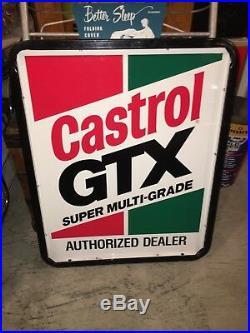 Vintage Castrol GTX Motor Oil Sign