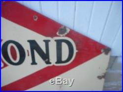 Vintage DIAMOND DX Gasoline Motor Oil PORCELAIN Gas DIE CUT Advertising SIGN