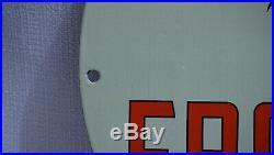 Vintage Frontier Porcelain Sign Gas Motor Oil Service Station Gasoline Pump Rare