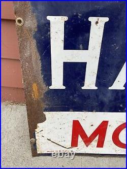 Vintage Havoline Motor Oil Tin Sign 42x30 Huge Texaco Has Oil Advertising Rare