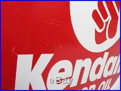 Vintage Kendall Motor Oil Sign Metal Double Sided 23 Gas Can Pump SCIOTO SIGNS