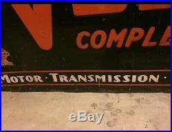 Vintage Metal veedol motor oil sign Pennsylvania antique old rare original