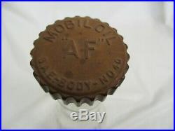 Vintage Mobil oil AF Motor Oil Gas Station Glass Bottle Jar Can Sign