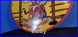 Vintage Pep Boys Motor Oil Porcelain Gas Motor Oil Service Station Pump Sign