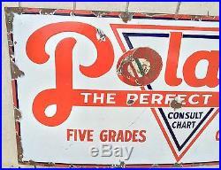 Vintage Polarine Porcelain Motor Oil Sign