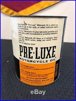 Vintage RARE 1 Gallon HARLEY DAVIDSON Motorcycles Pre-luxe Motor Oil Tin Can