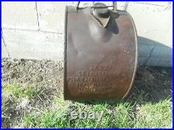Vintage RARE NORTHLAND MOTOR OIL WATERLOO IOWA IA ROCKER ADVERTISING CAN