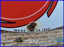 Vintage RPM Motor Oil Advertising Porcelain Pump Sign Donald Duck Gas Oil