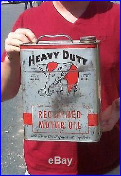 Vintage Rare Mouren Lauren Reclaimed Motor Oil Can Sign Gas With Elephant Graphic