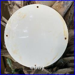 Vintage Red Hat Motor Oil Porcelain Metal Sign USA Independent Gas Pump Station