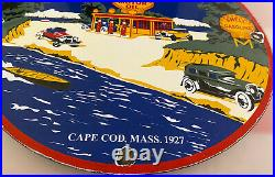 Vintage Shell 400 Gasoline Porcelain Sign Gas Station Pump Plate Motor Oil