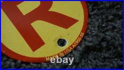 Vintage Shell Air Porcelain Sign Gas Motor Oil Station Pump Clam Gasoline Pump