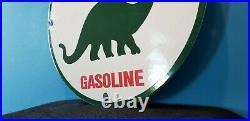 Vintage Sinclair Gasoline Porcelain Dino Motor Oil Service Station Pump Sign