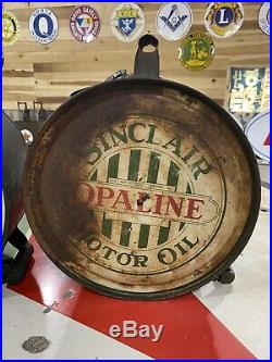 Vintage Sinclair Opaline Motor Oil 5 Gallon Rocker Can Not Porcelain Sign