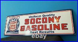 Vintage Standard Oil Co Porcelain Gas Motor Oil Service Station Pump Plate Sign