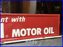 Vintage Tin Kendall Motor Oil Sign NOS